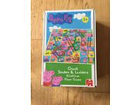 Giant Peppa Pig snakes and ladders set