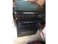 Hotpoint electric cooker black glass top and front grill oven and fan assisted oven ammiculate condi