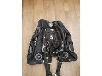 Scubapro Xtek HS 27kg double bladder wing, stainless steel back plate and ScubaPro Pure Tek harness