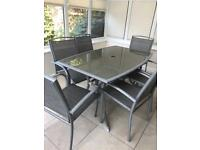 Garden furniture - table and 6 chairs