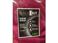Pink Dunelm blackout curtains