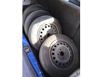 4 Steel wheel tyre Yaris 13 inch