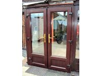 UPVC French Doors in Rosewood 1380 wide x 1880 high