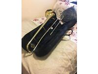 Brass Trombone & Case