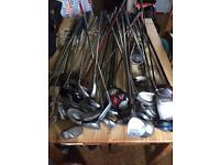 Various golf clubs for sale