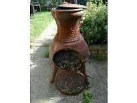 Patio garden burner / heater