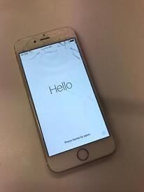 iPhone 6 64GB Unlocked gold for spares parts