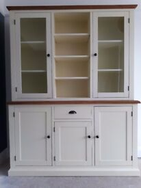 Dresser / Display Unit in ivory and oak.