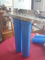 """water 2 filter high flow system with 20"""" cartridge filters"""
