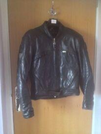Hein Gericke Pro Sports Leather Jacket Med. Black.
