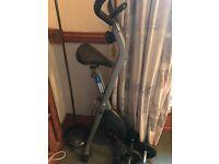 Barely Used Exercise bike, Brand new Kettle Bells