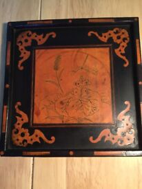 Very small Arts and Crafts wooden tray