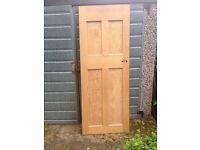 Reclaimed pine panel doors