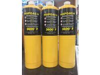 Mapp gas for plumbing brazing soldering blow torches