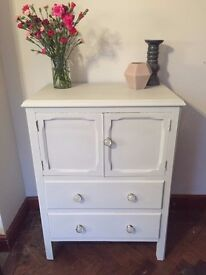 Shabby Chic Tallboy/ Drinks Cabinet