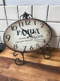 Lovely Vintage Style Ornate Clock On Stand