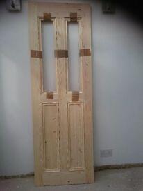 PINE DOORS (INTERIOR) x 2 - SOLID - BESPOKE - BRAND NEW