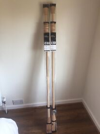2x Brand new curtain poles