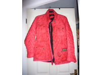 BARBOUR INTERNATIONAL WOMENS QUILTED JACKET in RED