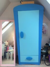 Kids matching IKEA wardrobe and chest of drawers