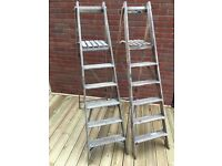 2 Sets of Wooden Step Ladders – Used for summer wedding