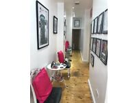 Room to rent in busy wax and beauty salon Pollokshaws road