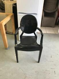 Large black gloss chair