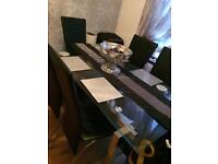 Dinning table plus 6 high back chairs