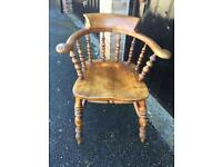 Antique smokers chair (delivery available)
