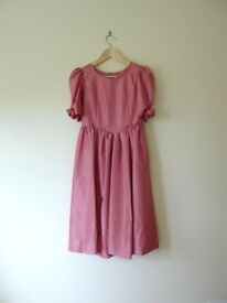 HAND MADE One-of-Kind Pink Girls Bridesmaid Wedding Dress Flower Floral 11-13 years PRISTINE! £50