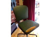 VINTAGE INDUSTRIAL SWIVEL CHAIR - WORKS GREAT - CAN DELIVER