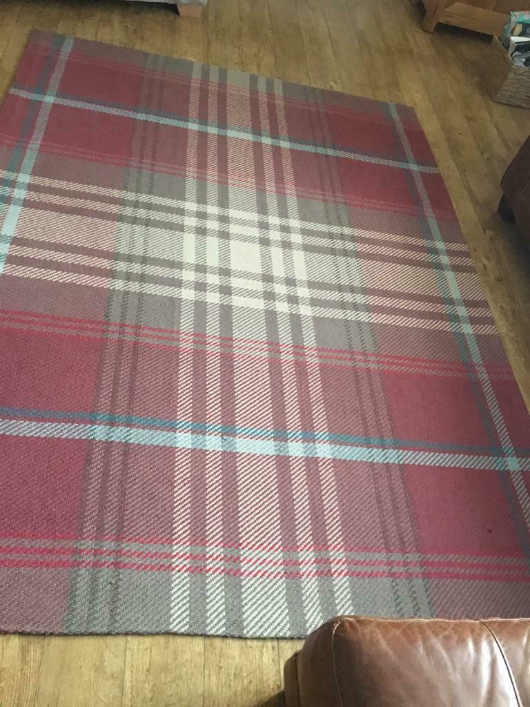 Next Red Check Rug Curtains And 2