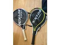 Dunlop tennis rakets Junior + 2 tennis balls