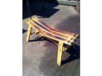 Oak Whisky Barrel Bench