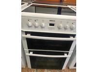 Beko white 60cm full electric cooker