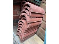 Redland Concrete Half Round Ridge 450mm - Antique Red