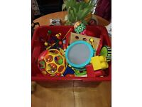 Free box with baby toys 6-18months to give away