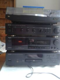 Denon stereo system.