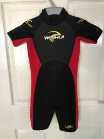 Wahui 2/3mm childs summer shorty wetsuit