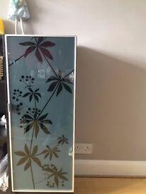 IKEA Billy Bookcase (Dark Brown/Black) with Glass Door