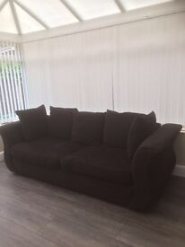 Black used sofa for sale. Good condition. 2.1 in length. Collection only. £100