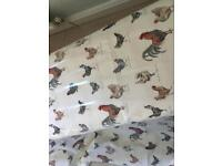 Laura Ashley Printed Fabric With PVC Coating. (Branscombe Chicken).