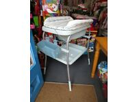 Unisex Baby Change Station with bath and change mat & storage