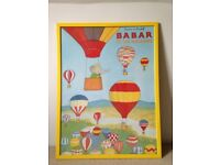 Babar et les Balloons print for children's bedroom