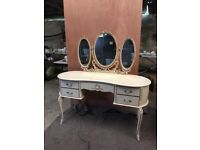 Louis Style bedroom suite; dressing table, chest of drawers large and small and bedside cabinet