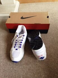 Nike Air Wings Plus White Trainers UK Size 8.5 EU size 43 - New With Box!!!