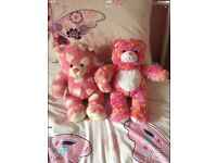 BUILD A BEAR SET OF PINK BEARS