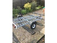 Galvanised 3 bike trailer