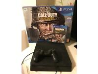 Mint condition PS4 500Gb + Call of Duty + Official Headset