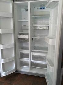 LG Fridge Freezer, brushed silver colour, excellent clean condition.